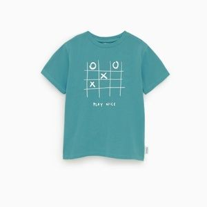 Zara turquoise 3 in a row T-shirt